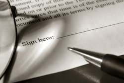 Sign up paper